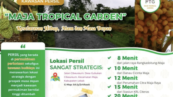 Maja Tropical Garden – Kavling Produktif di Pemukiman Perkotaan