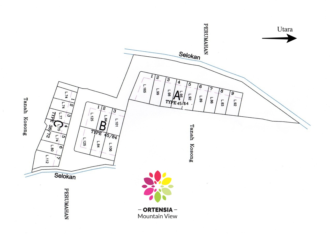 siteplan ortensia mountain view