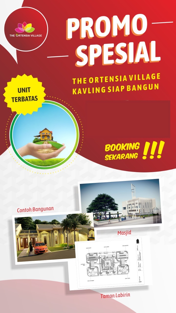 Promo kavling siap bangun the ortensia village