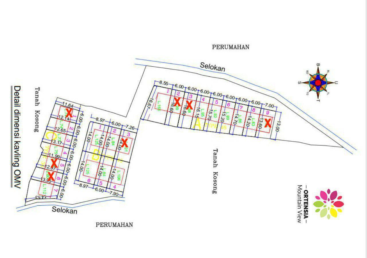 siteplan perumahan syariah ortensia