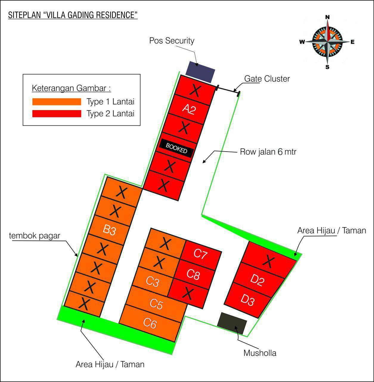 siteplan rumah syariah bekasi