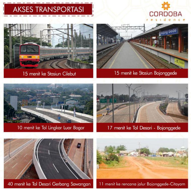akses transportasi cordoba residence