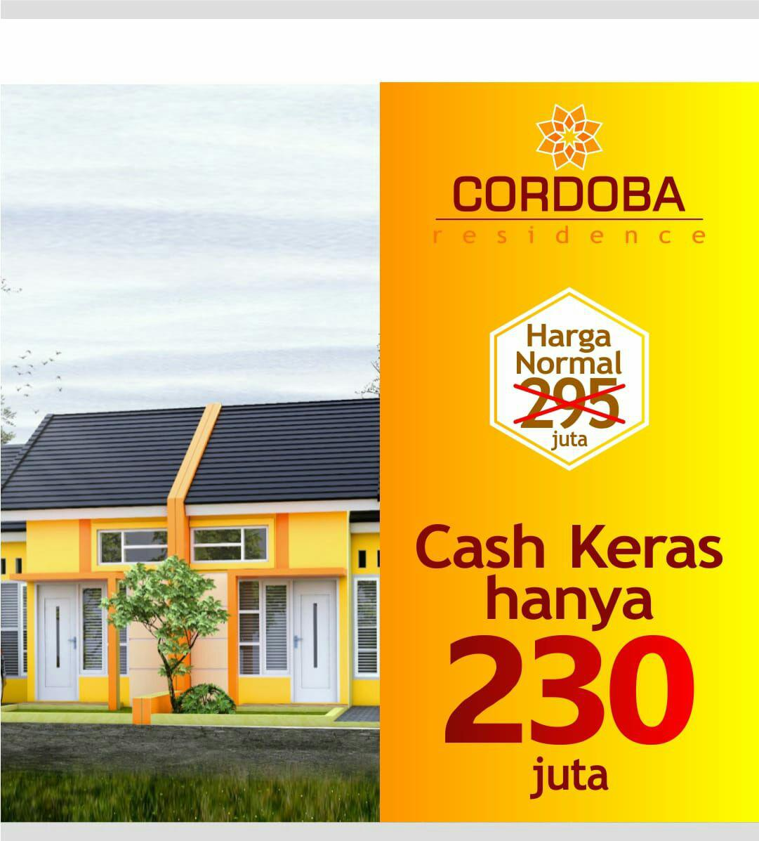 harga cash rumah syariah cordoba residence