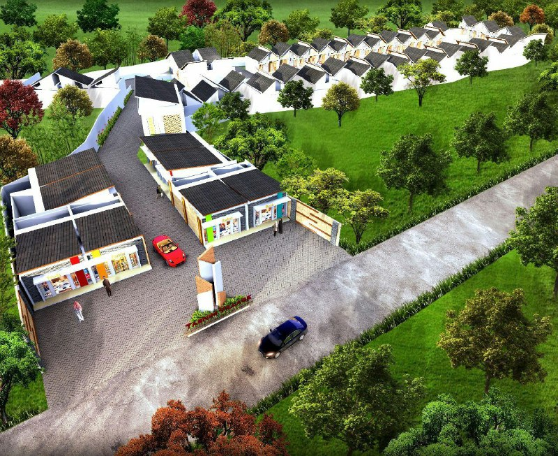 Rumah Syariah Bogor-TAsnim Village-denah 3d siteplan