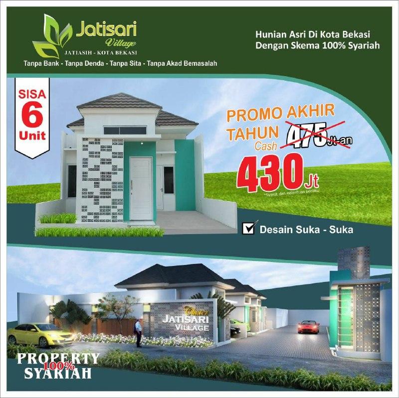 rumah bebas banjir-harga jatisari village