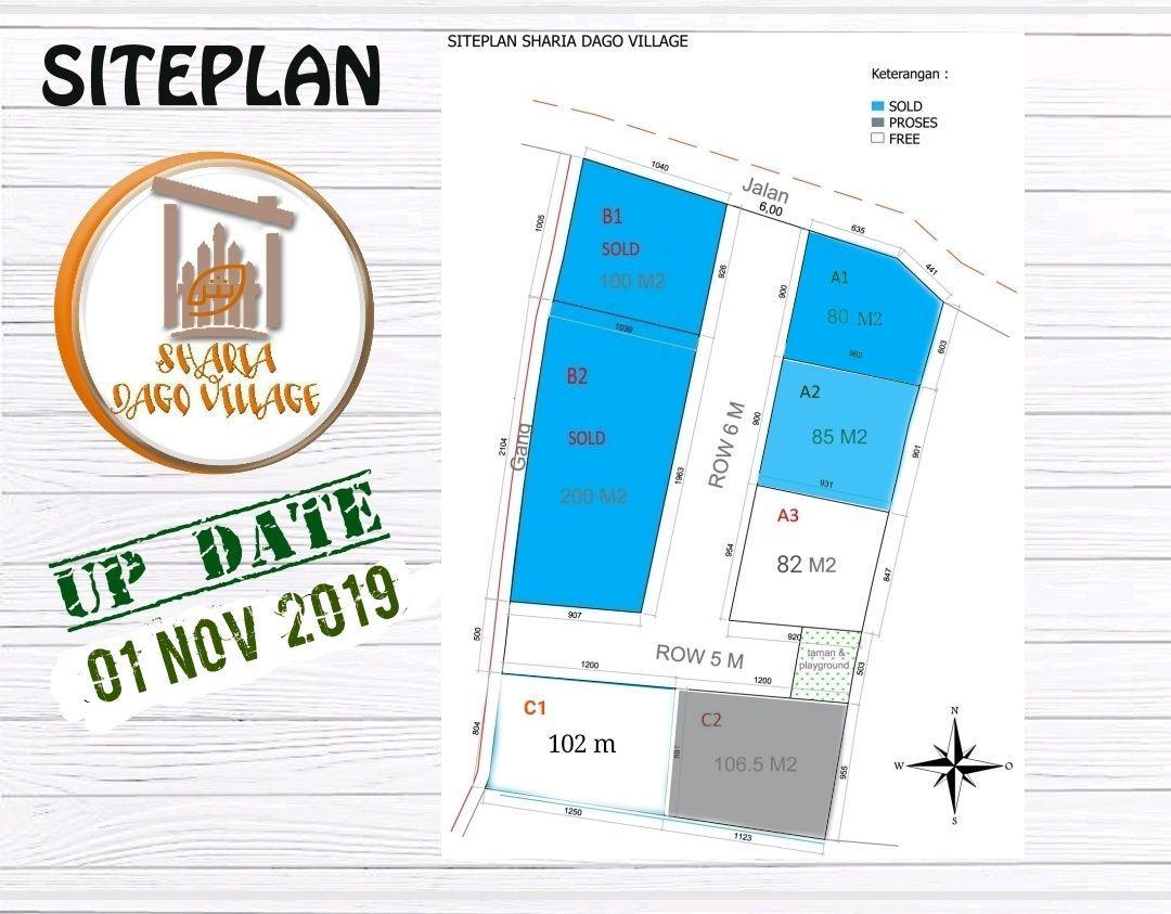 siteplan rumah syariah lembang sharia dago village