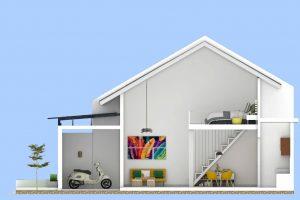 rumah berkonsep mezzanine