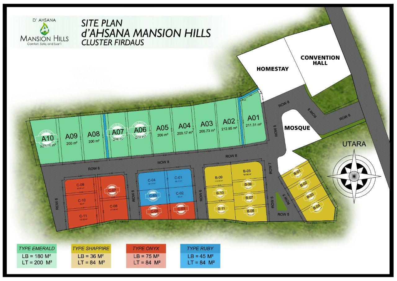siteplan villa ahsana mansion hills pacet
