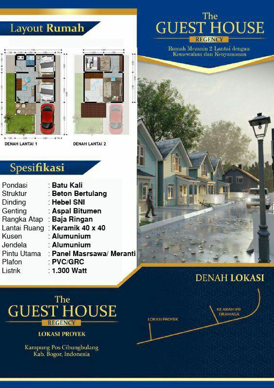 rumah di bogor-the guest house regency-rumah minimalis Bogor