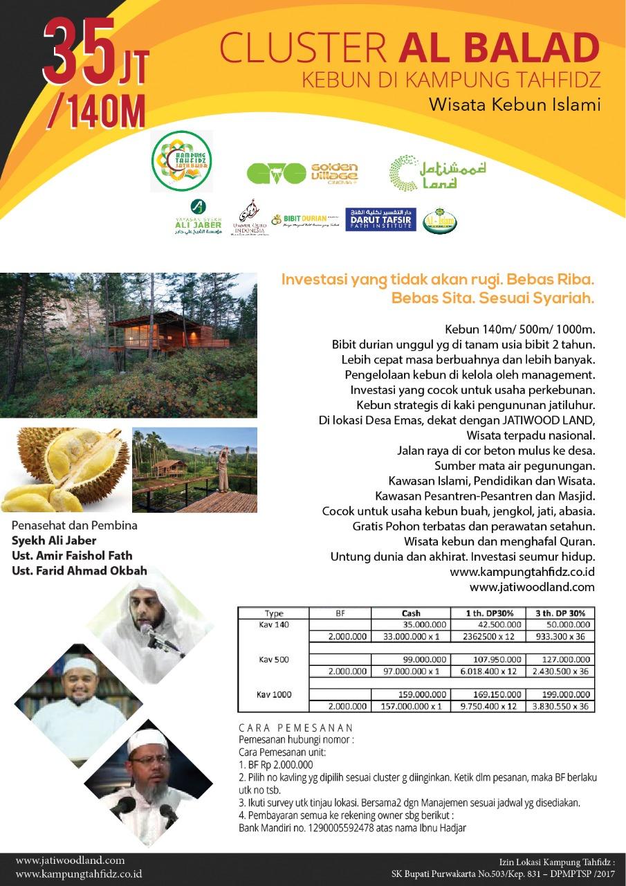 Promo Kampung Tahfidz Jatiluhur – Kavling Produktif di Kawasan Wisata Waduk Jatiluhur 11