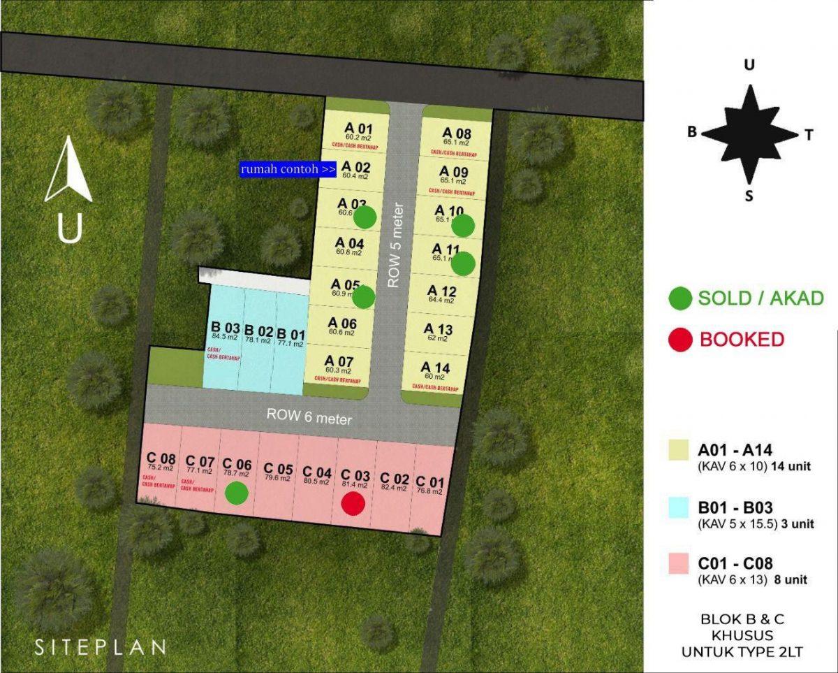 siteplan green jatimulya residence bekasi