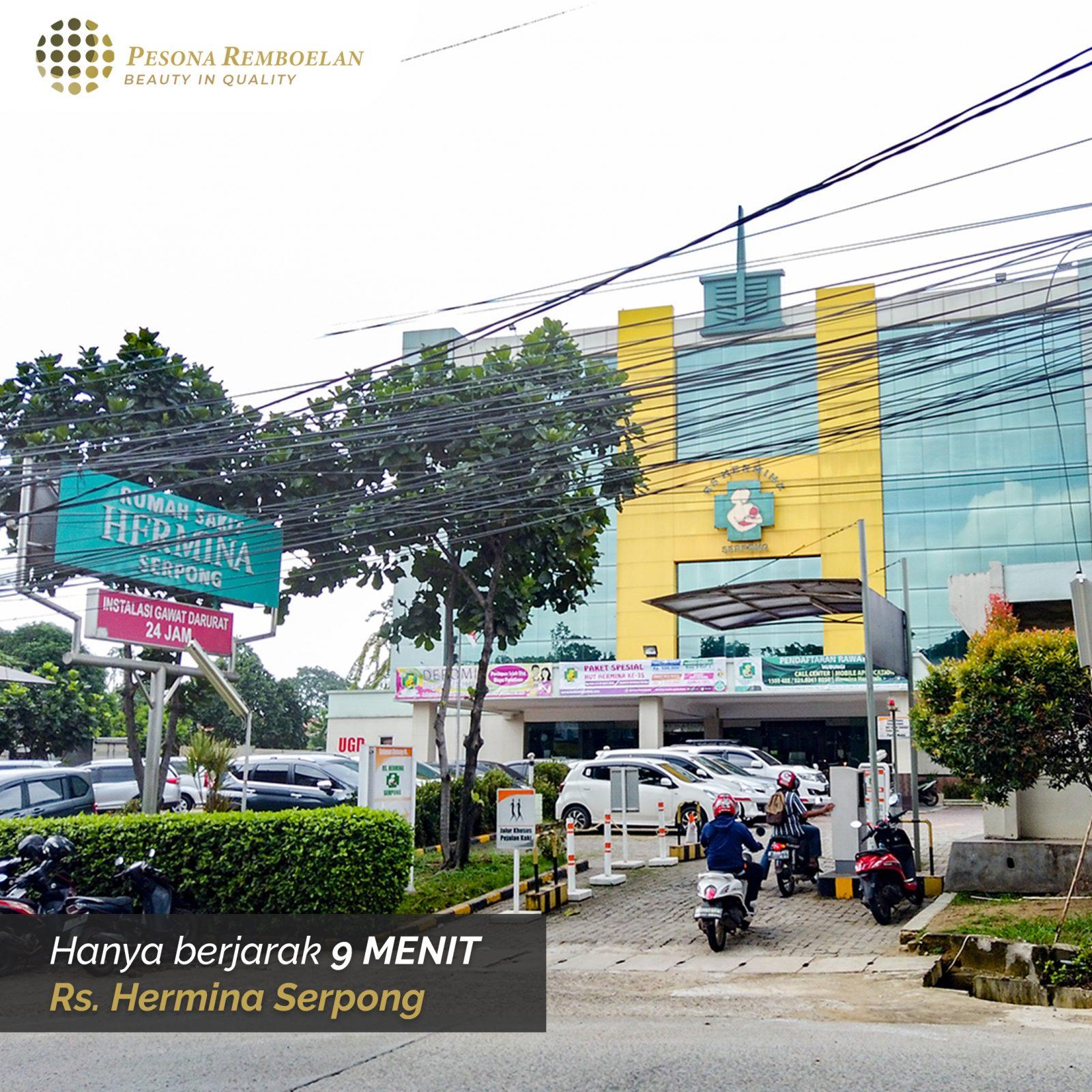 Pesona Remboelan Serpong - Rumah 2 Lantai Cukup DP 34 Juta Langsung Akad 16