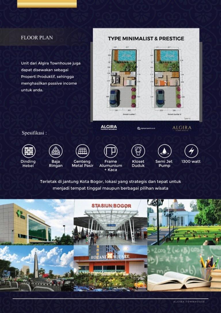 Algira Townhouse – Rumah Mewah di Pusat Kota Bogor, Cocok Untuk Investasi Maupun Hunian 1