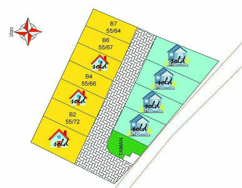 siteplan raudhoh residence cibinong