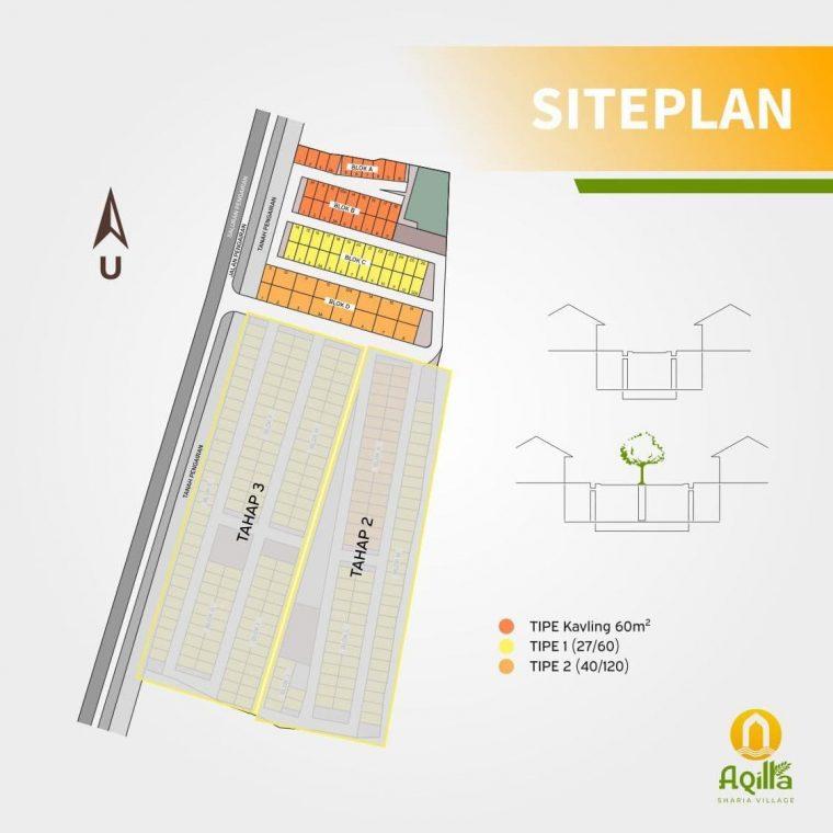 siteplan aqilla sharia village