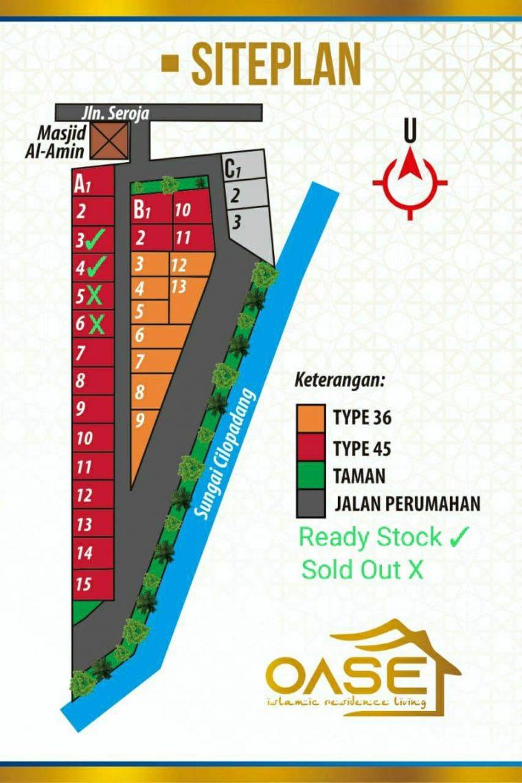 siteplan oase residence majenang