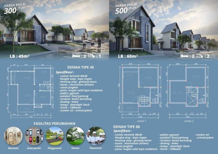 type rumah di aulia resort