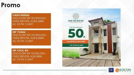 Rumah 2 Lantai Dar Ar-Rayan – Rumah Dekat Tol Jatiasih Hanya 700 Juta-an