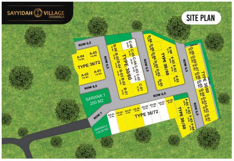 siteplan sayyidah village dramaga