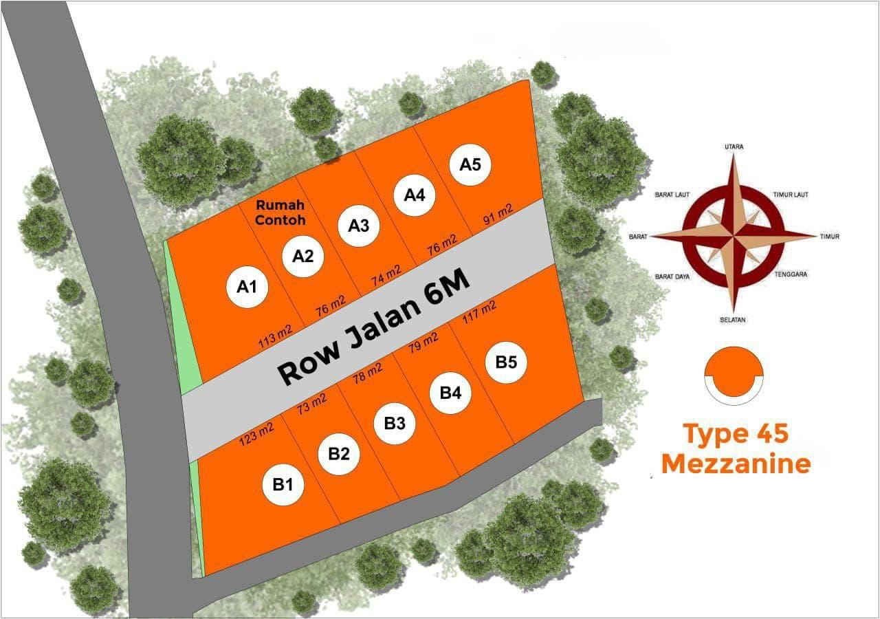 siteplan rumah syariah bojong gede
