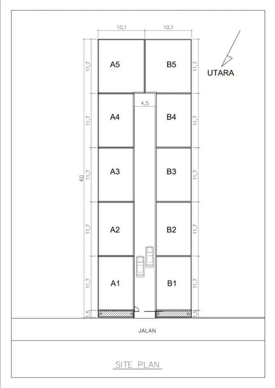 siteplan kavling villa